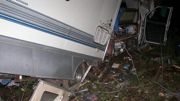 The motor home was destroyed.