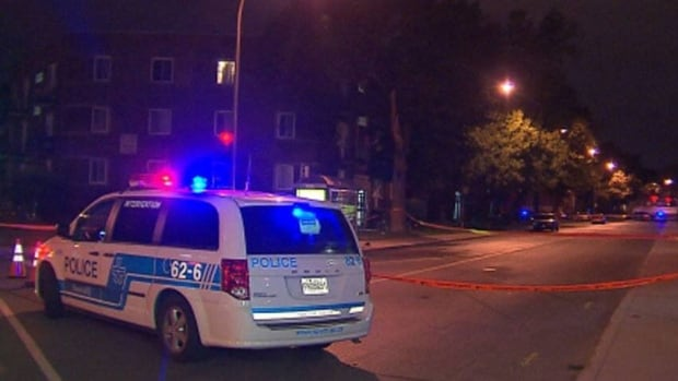 Officers taped off an area near the corner of Elmhurst Avenue and St-Jacques Street overnight.