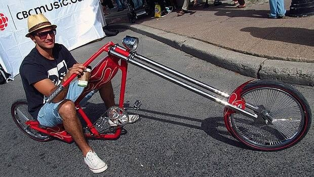 Supercrawl organizers are advocating for people to take their bikes to the festival - like this guy from last year.