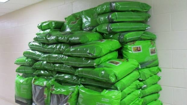 The Canada Border Services Agency says 20 boxes of material was declared as green tea, but turned out to be an illegal drug chew for its mildly stimulating effects.