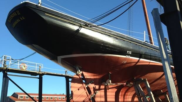 Bluenose II was built in 1963 and weighs around 285 tonnes.