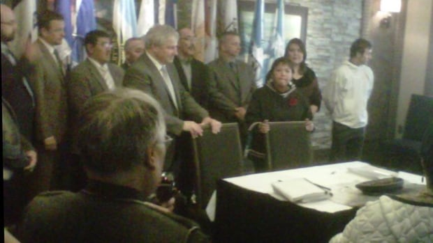 A signing ceremony for the Mary River Project was held Friday in Iqaluit.