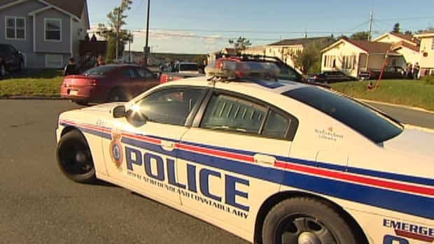 Members of the RNC and Canadian Armed Forces were called to this Mount Pearl neighbourhood to examine a torpedo-shaped object.