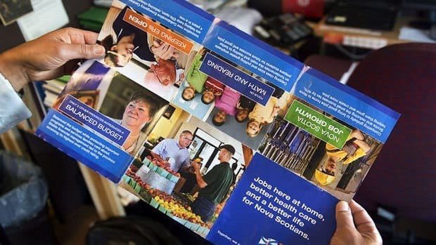 These brochures, distributed before the election was called, have irritated the Liberals and Progressive Conservatives who say taxpayers have no business funding partisan ads.