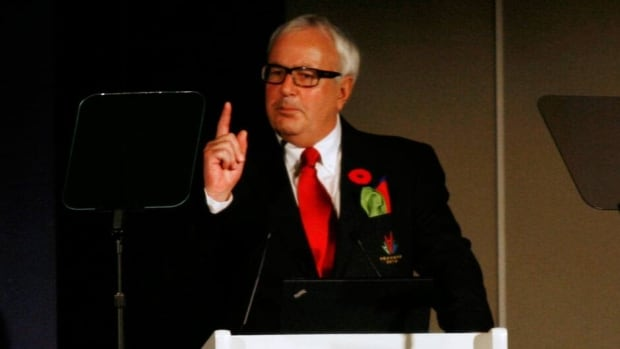 Former Ontario Premier David Peterson was also the chair of Ontario's bid to get the Games.