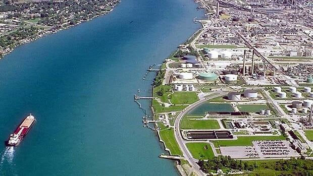 Sarnia Mayor Mike Bradley says there was a sheen of diesel fuel on the river 8 km from the leak.