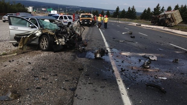 One person died after a crash between a car and a truck near Sydney River, Cape Breton.