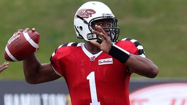 Hamilton Tiger-Cats quarterback Henry Burris completed 25 of 35 passes for 375 yards and threw a season-high four touchdown passes last week against the B.C. Lions.