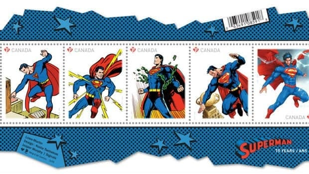 Canada Post has released six Superman stamps to commemorate the superhero's 75th anniversary.