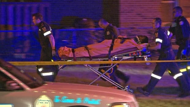 A man was taken to hospital after a shooting in the Lawrence Heights neighbourhood early Friday.