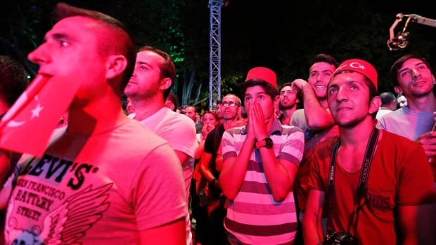 Turks react after finding out that Tokyo was awarded the right to host the 2020 Summer Games as they watch it live on big screens in Sultanahmet Square in Istanbul. The announcement was made in Buenos Aires, Argentina.