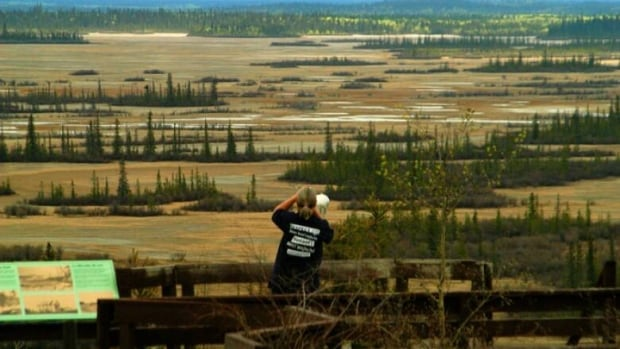 The Salt Plains in Wood Buffalo National Park, which straddles Alberta and the Northwest Territories. A wildfire is now burning out of control about four kilometres north of the Pine Lake Recreation Area and about one kilometre west of the Pine Lake road.