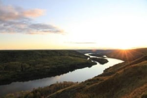 Peace River Above Proposed Site C Dam Site by Eliza Massey Stanford