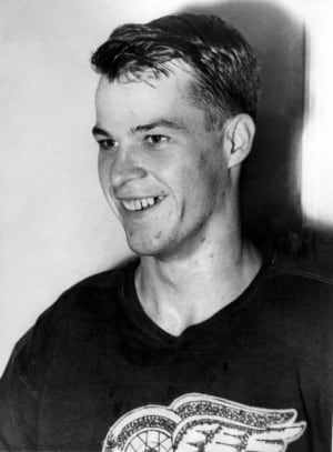 OCTOBER 1950: Gordie Howe, 22, in his fifth season with the Detroit Red Wings. (Associated Press)