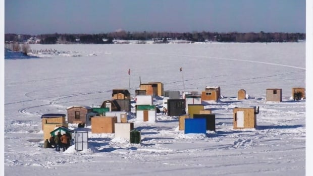 Ice fishing communities like this one in Bathurst could be popping up on lakes all over New Brunswick.