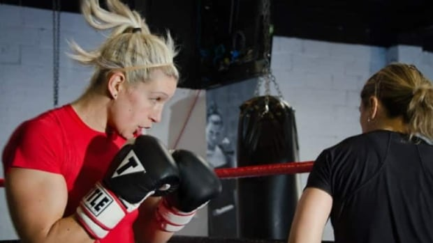 Canadian boxer Myriam da Silva in training. An app named Logit aims to prevent athletes like her from suffering an injury.