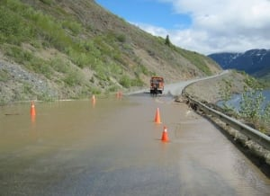 Washout at Yukon-B.C. border
