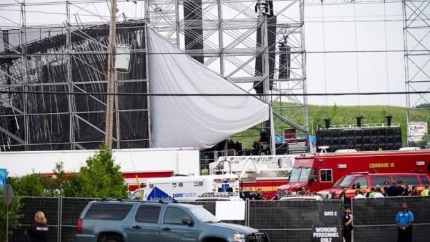 A stage at Toronto's Downsview Park collapsed before a sold out concert by popular rock group Radiohead on June 16, 2012.