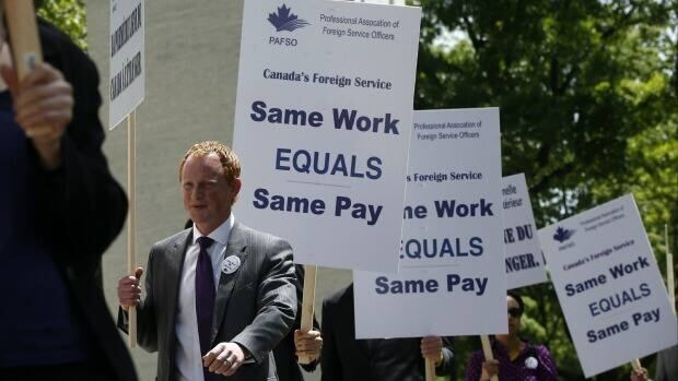 The union representing Canada's foreign service received a favourable ruling today from the labour board, which agrees the federal government has been bargaining in bad faith.