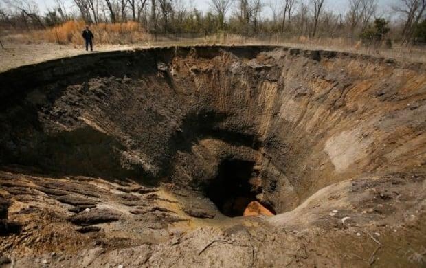 Oklahoma mine damage