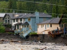 Canmore flood damage