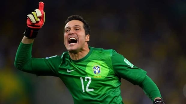 Julio Cesar of Brazil still regrets his mistake four years ago at the South Africa World Cup.  (Laurence Griffiths/Getty Images)