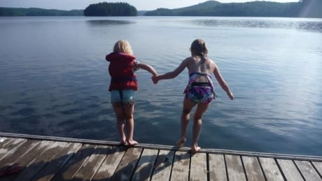 Summer visit at cottage in Ontario.