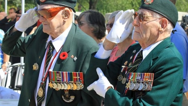Fred Engelbrecht (right) and Jack McFarland were both captured in the raid on Dieppe during the Second World War on Aug. 19, 1942.