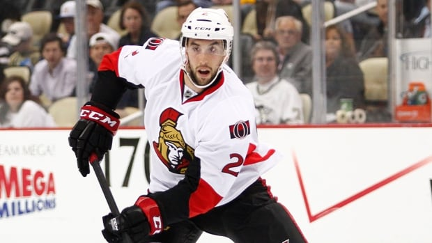 Jared Cowen of the Ottawa Senators skates against the Pittsburgh Penguins at Consol Energy Center on May 14, 2013 in Pittsburgh, Pennsylvania.