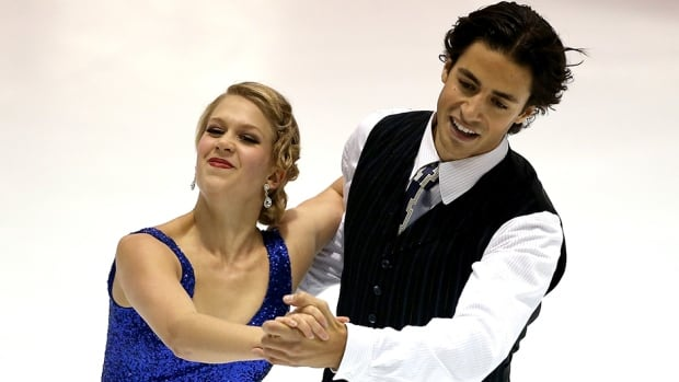 Andrew Poje and Kaitlyn Weaver of Canada took home silver in the ice dance competition at the U.S. International Figure Skating Classic on Saturday.