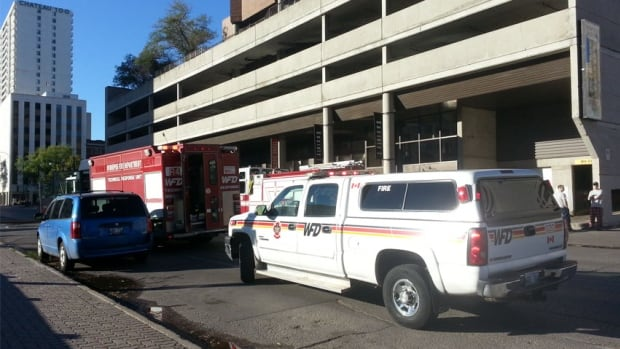 Emergency crews are cleaning up after a fire at at downtown Winnipeg apartment complex.
