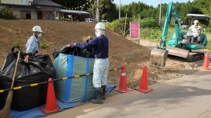 Fukushima cleanup crew in community