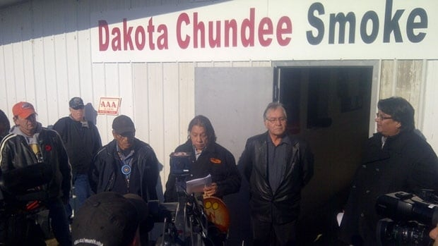 Organizers of the Dakota Chundee smoke shop have been fighting the provincial government over their right to sell untaxed cigarettes without a license since the shop opened in November 2011.