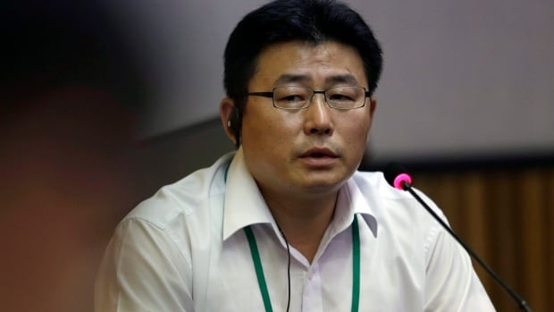Ahn Myung-chul, who worked at several North Korean political prisoner camps in the 1990s before defecting to the south, spoke before the United Nations Commission of Inquiry on Human Rights in North Korea, in Seoul, South Korea. (AP Photo/Lee Jin-man)