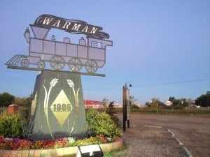 Main entrance to the city of Warman, Sask.
