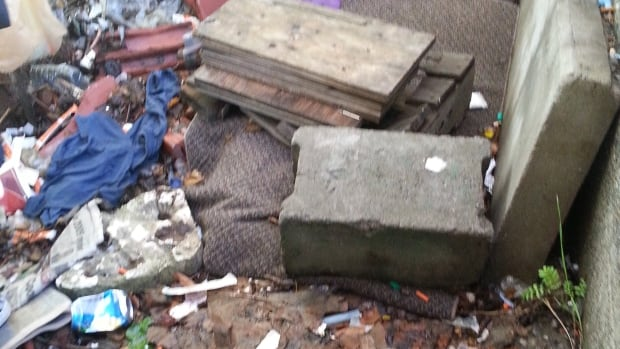 An image from a report on homelessness that CBC News filed last year.  A makeshift home in the bush is located beside the downtown railway tracks in Sudbury. A member of the Sudbury Coalition Against Poverty says some Sudburians are taking in strangers who would otherwise be out on the street.