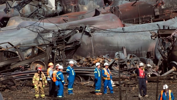 A report on the Lac-Mégantic disaster by the Golder company states more than $100,000 cubic meters of soil will have to be excavated at the site of the derailment.