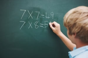 chalkboard math stock photo