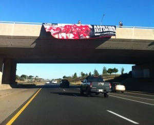 Anti-abortion banner