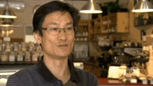 David Shin, owner of C'est la Vie cafe in Moncton