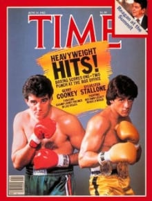Gerry Cooney and Sylvester Stallone on the cover of Time magazine