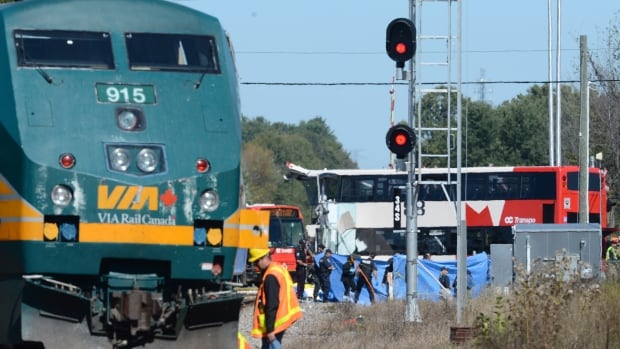 Six people, including the bus driver, were killed and more than 30 injured this morning when Via Rail's Train 51 collided with the Route 76 OC Transpo bus, which was headed for downtown Ottawa.