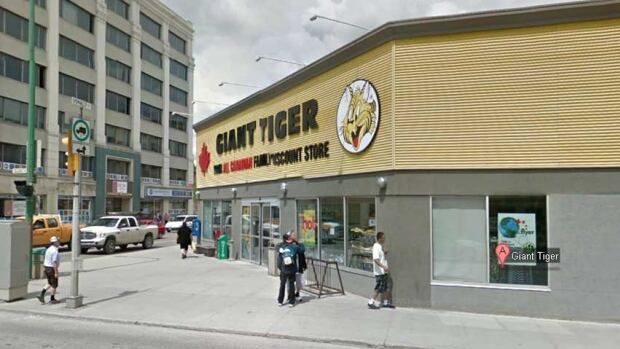 This Giant Tiger near Winnipeg's Exchange District sells meat, poultry, eggs, milk, bread, fresh fruits and vegetables.