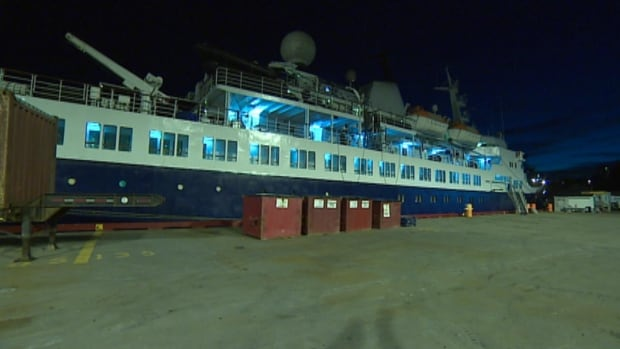 The sister ship of the Lyubov Orlova docked in St. John's harbour on Wednesday.