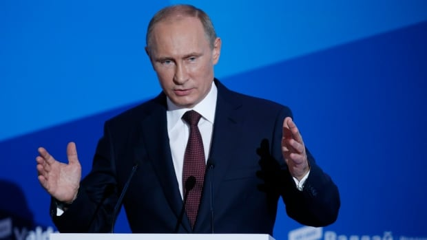 Russian President Vladimir Putin speaks at a meeting of the Valdai International Discussion Club in the Novgorod Region, Russia on Thursday. He says he may run for president again in 2018.