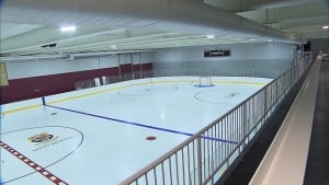 Inside Westmount underground rink