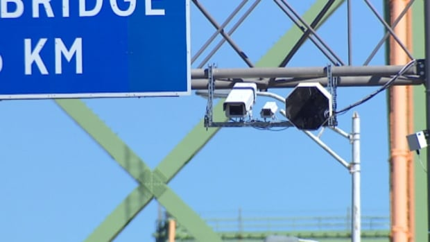 The cameras will tracking traffic on the MacKay bridge for one month.