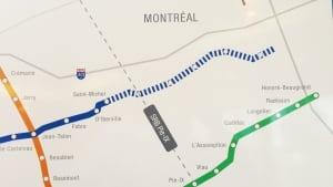 Montreal metro extension