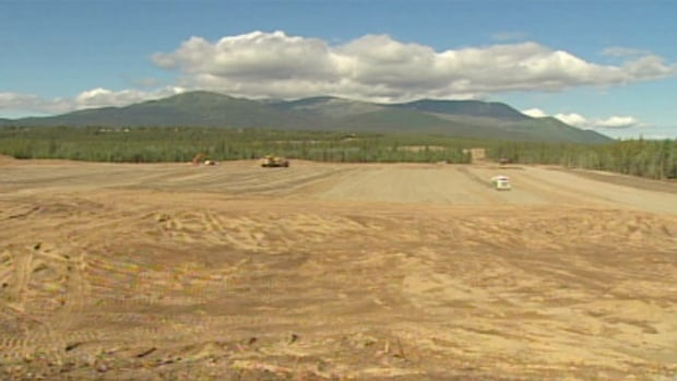 A view of lots being developed at the Whistle Bend subdivision in Whitehorse.
