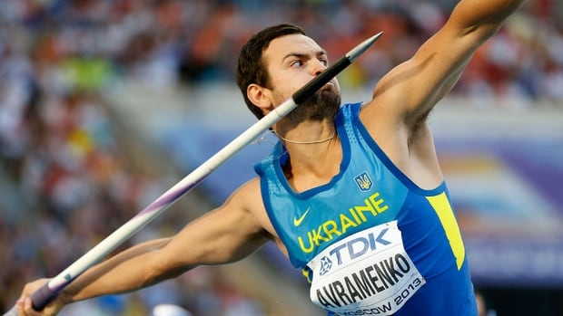 Ukraine's Roman Avramenko, seen here competing in the men's javelin throw final at the recent track and field championships in Moscow, had a steroid found in his urine samples following the competition.